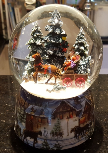 Wunderschöne Spieluhr Schneekugel Mit Licht Mäuse Im Piratenschiff !# Antiquitäten & Kunst Spielzeug